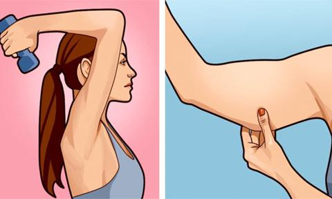 4 động tác đánh tan mỡ thừa vùng bắp tay trong 3 phút