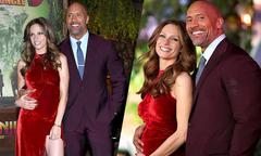 Dwayne Johnson giới thiệu bạn gái 'bầu bí' tại lễ ra mắt phim
