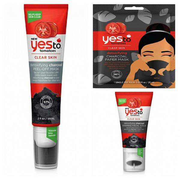 Yes To Yes to Tomatoes Detoxifying Charcoal Peel Off Mask Loại mặt nạ này giúp thải độc cho da, làm sáng da