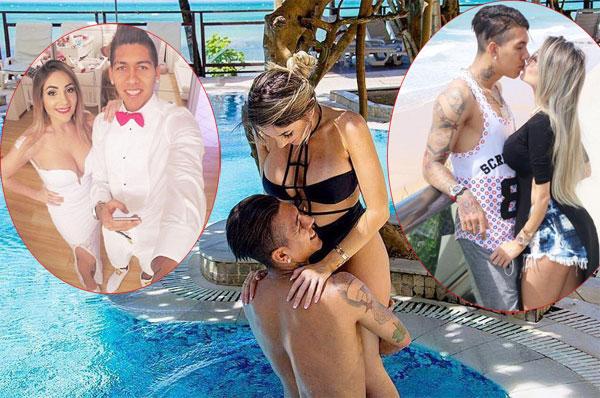 Những hình ảnh ngọt ngào của vợ chồng nhà Firmino tràn ngập trên trang cá nhân của cả hai.