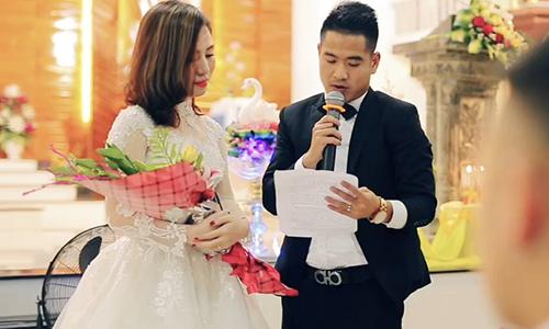 Lễ cưới trong nhà thờ của tuyển thủ Âu Văn Hoàn