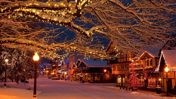 Những ngôi làng đẹp như cổ tích mùa Giáng sinh