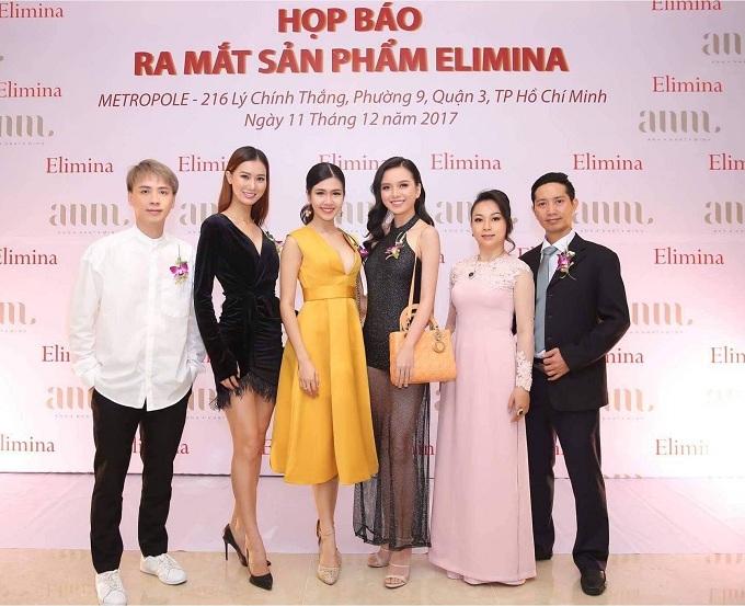 Chị Katherine Do Hien (thứ hai bên phải ) là người đưa thương hiệu mỹ phẩm Elimina về Việt Nam.