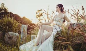 Chế Nguyễn Quỳnh Châu lộng lẫy như công chúa trong trang phục cưới