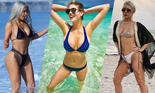 Những màn phô diễn bikini nóng nhất năm của sao Hollywood