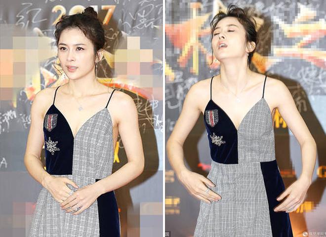 Tối qua 18/12, khi dự thảm đỏ trao giải cuối năm của một tạp chí lớn, diễn viên Triệu