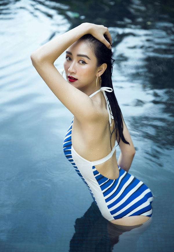Hà Thu tung ảnh mặc áo tắm kỷ niệm hai năm thi Hoa hậu Liên lục địa