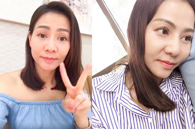 Thu Minh thường xuyên để mặt mộc khi livestream trò chuyện cùng fan hay đăng tải ảnh không trang điểm lên mạng bởi tự tin về làn da căng bóng, mịn màng của mình.