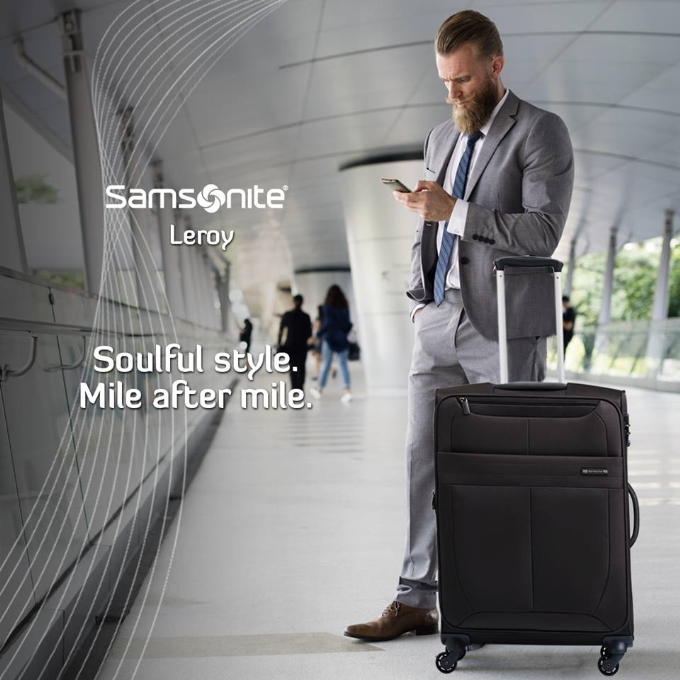 Samsonite là thương hiệu vali nổi tiếng tại Mỹ, gắn liền với lịch sử phát triển của ngành du lịch. Dòng sản phẩm tiêu biểu của hãng là vali Leroy siêu nhẹ, làm từ chất liệu Polyester cao cấp. Thiết kế mang phong cách hiện đại và thời trang. Sản phẩm bảo hành quốc tế 3 năm.