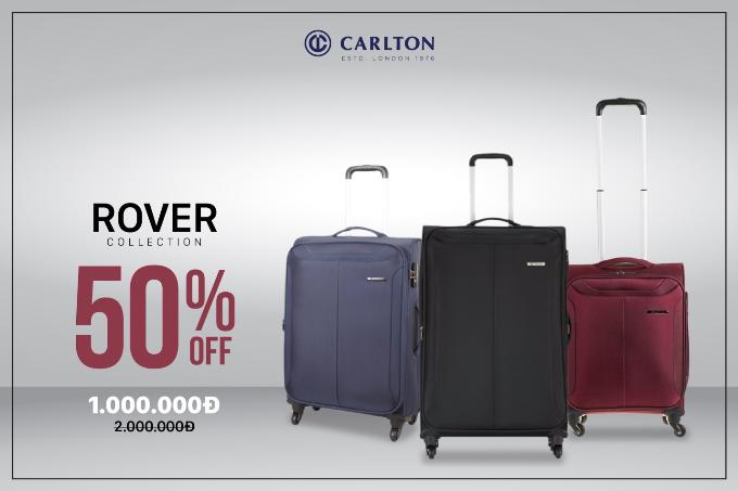 Dòng vali kéo Rover thương hiệu Carlton (Anh quốc) có màu sắc đa dạng, phù hợp với mọi loại trang phục như đen mạnh mẽ, xanh thanh lịch, đỏ sang trọng. Vỏ vali được làm bằng chất liệu Polyester chống bám bụi, chống cháy, chống co giãn khi giặt và đặc biệt chống thấm nước tốt. Sản phẩm bảo hành quốc tế 3 năm.