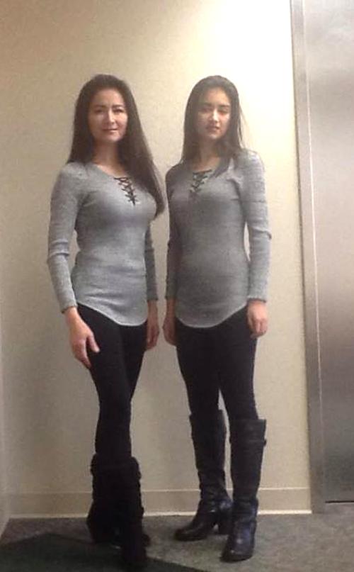 Sở thích mặc đồ đôi của bà mẹ hoa hậu với con gái tuổi teen