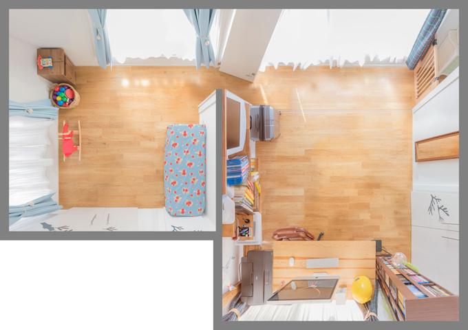 Nhà có trẻ nhỏ: Đồ dùng được treo lên để luôn gọn gàng