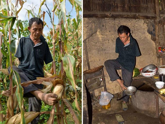 Chen Xinyin, 48 tuổi, bị mất cả hai cánh tay từ năm anh 7 tuổi sau một tai nạn điện giật. Khi Chen 20 tuổi, bố anh qua đời, bỏ lại hai mẹ con anh. Cuộc sống ngày càng khó khăn hơn khi mẹ anh thường xuyên bị ốm. Có người gợi ý Chen đi ăn xin để kiếm chút tiền trang trải cuộc sống nhưng anh nhất định không nhận sự thương hại của mọi người.