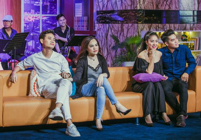 Vợ chồng MC Hồng Phúc, diễn viên Lê Phương là khách mời tronggameshow Đêm tiệc cùng sao. Tuy nhiên các cặp đôi bị yêu cầu xé lẻ, chia thành hai đội tranh đua với nhau trong 4 trò chơi và một vòng thi đặc biệtđể nhận tiền thưởng 30 triệu đồng.