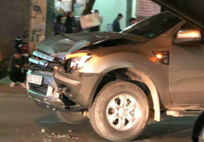 Chiếc xe gây tai nạn khiến bốn người tử vong.Ảnh: Sơn Tùng