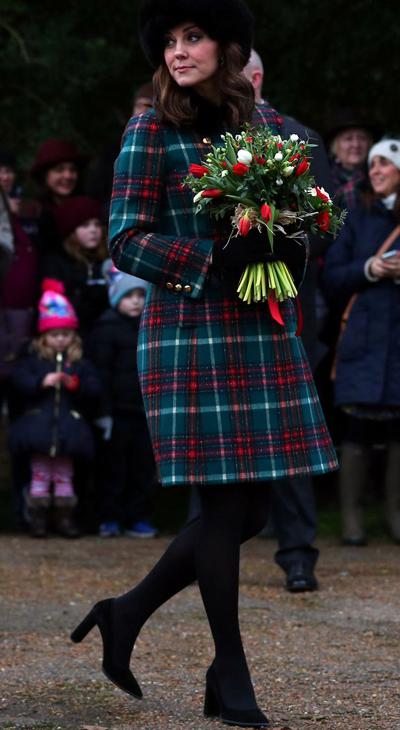 Kate xinh đẹp ở giai đoạn giữa của thai kỳ. Ảnh: Reuters