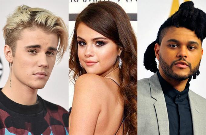 Justin Bieber và The Weeknd đối địch vì Selena Gomez.