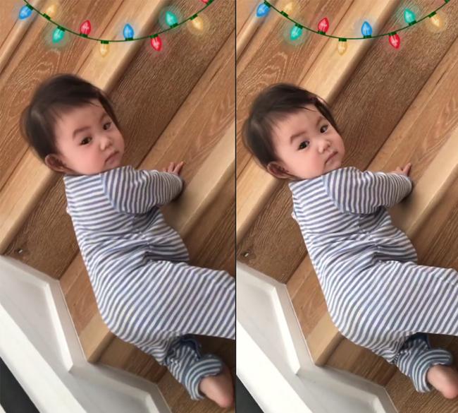 Con gái Trần Quán Hy càng lớn càng bụ bẫm, đáng yêu