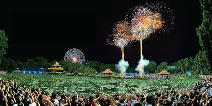 Chương trình bắn pháo hoa sẽ diễn ra vào 24h ngày 31/12.