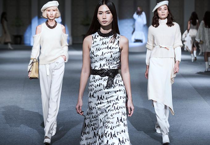 Show diễn của Adrian Anh Tuấn có những thiết kế mang tính ứng dụng cao, thể hiện vẻ đẹp hiện đại và đồng điệu xu hướng thời trang thế giới.