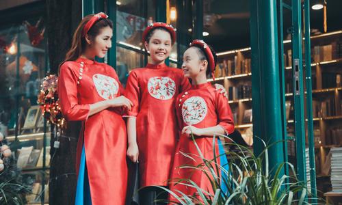 Ngọc Quyên gợi ý chọn áo dài cho mẹ và bé