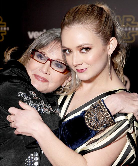 Carrie Fisher bên cô con gái Billie Lourd.