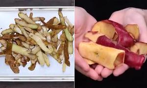 Làm mứt, đồ ăn vặt từ vỏ táo và vỏ khoai tây