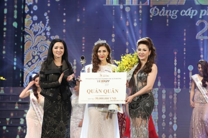 Hoa hậu Xuân Hương diện váy xuyên thấu dự đêm chung kết cuộc thi sắc đẹp - 8