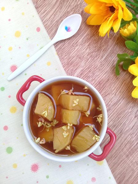 Vào mùa đông lạnh bạn hãy thường xuyên chế biến món chè khoai hoa mộc ngọt ấm này để chăm sóc sức khỏe gia đình mình nhé.