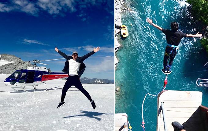 Cuối tháng 12, MC Phan Anh cùng gia đình có chuyến du lịch tới đảo quốc New Zealand. Anh tham gia trò chơi nhảy cầu đầy mạo hiểm ở hồWakatipu. Sợ nhất là cảm giác trước khi nhảy đứng từ trên cầu nhìn xuốngnhưng mà khi nhảy rồi thì lại tiếc, giá như cao hơn nữa bay sẽ lâu hơn. Lần sau sẽ nhảy từ độ cao trên 100 m. Lầnnày có 43 m thôi ah. Đây là cầu Kawarau, địa điểm tổ chức nhảy bungee thương mại đầu tiên trên thế giới. Để đăng ký, thường phải đặt lịch trước, anh chia sẻ.