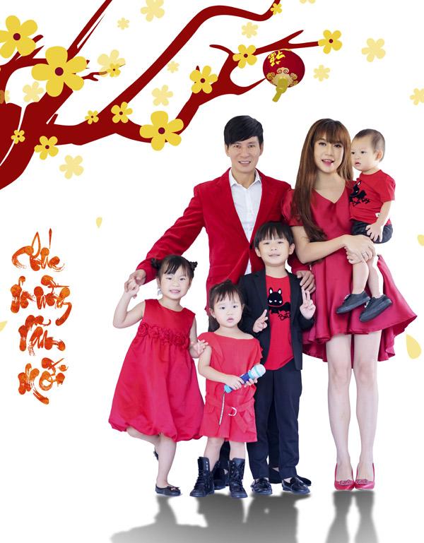 Gia đình Lý Hải chụp ảnh Tết cùng dàn diễn viên Lật mặt 3 - 1