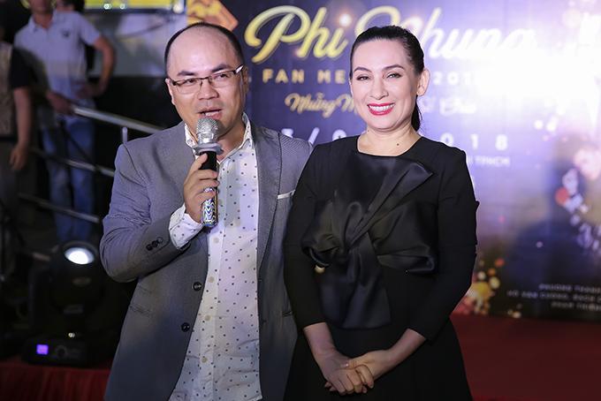 Tại sự kiện hôm qua, Phi Nhung cho biết, chị sẽ tổ chức Fan meeting hoành tráng vào 16h thứ bảy 13/1/2018 tại Nhà văn hoá thanh niên TP HCM. Chương trình được dàn dựng như một mini concert với sự tham gia của nhiều khách mời nổi tiếng.