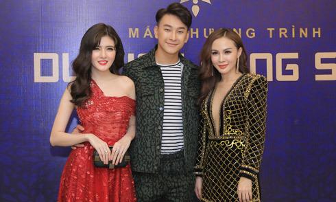 Hoàng Kỳ Nam ôm eo hai 'người tình' Kelly Nguyễn, Lilly Luta trong đêm tiệc