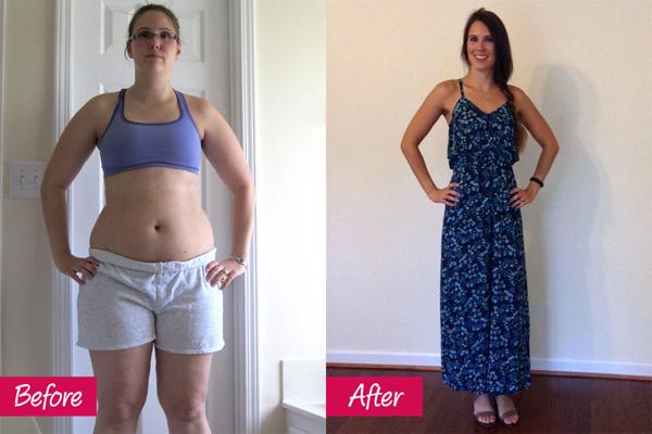 Veronica Serrero, 33 tuổi, giảm 30 kg sau khi sinh nhờ tranh thủ tập thể dục theo các video hướng dẫn trên mạng khi con trai ngủ.