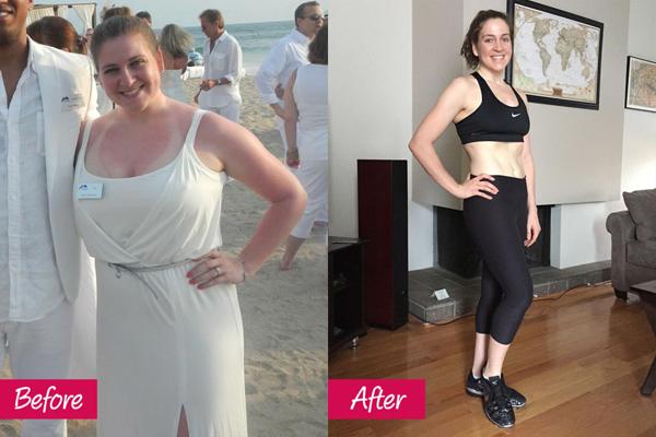 Sarah Easley, 32 tuổi, từng tập cardio một thời gian dài mà không giảm được lạng nào. Sau khi tập thử một lớp yoga, Sarah cảm thấy đây mới là bộ môn giúp mình thay đổi bản thân. Cô tập thường xuyên hơn và còn tham gia lớp Birkham yoga (yoga nóng) vào thứ 6 hàng tuần. Chỉ sau nửa năm, Sarah đã giảm được 24 kg, thân hình thon gọn, săn chắc hơn hẳn.
