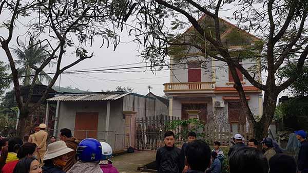 Căn nhà 2 tầng nơi xảy ra thảm án.