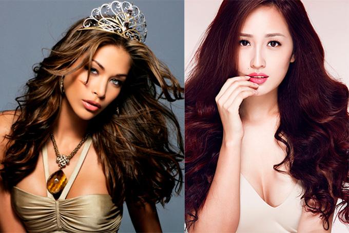 Hoa hậu Dayana Mendoza và Mai Phương Thuý.