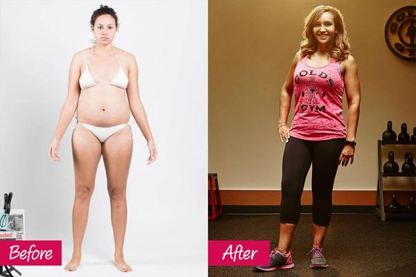 Maribel Contreras, 35 tuổi, tham gia chương trình Thay đổi bản thân trong 12 tuần. Cô tích cực tập với tạ và các bài tập xây dựng cơ bắp. Kết quả là, Maribel đã giảm được 21 kg sau 12 tuần.