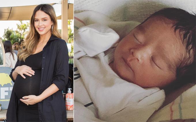Jessica Alba vừa sinh con trai.