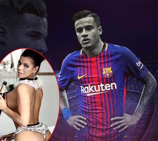 Hoa hậu siêu vòng ba chào mừng Coutinho đến Barca