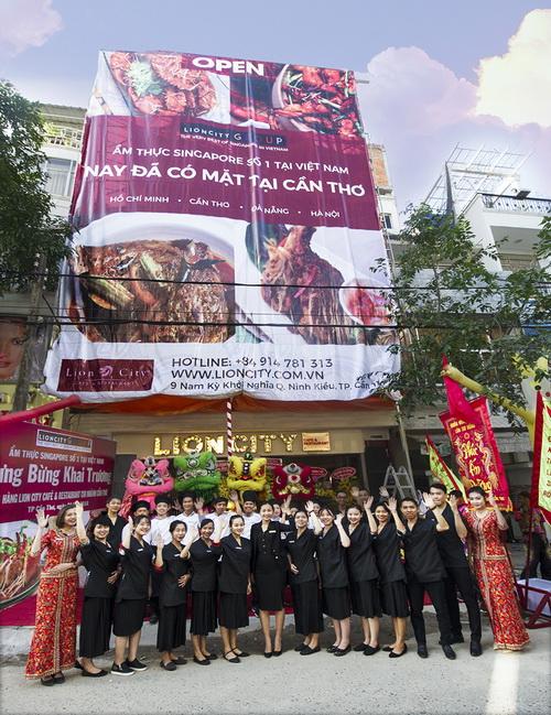 Chuỗi nhà hàng Singapore vừa khai trương chi nhánh thứ bảy mang tên Lion City Café & Restaurant, tại số 9 Nam Kỳ Khởi Nghĩa, quận Ninh Kiều, CầnThơ.