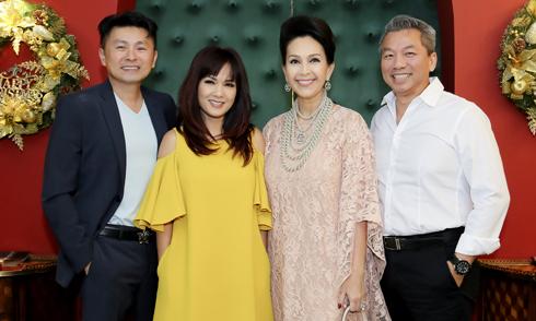 Hoa hậu Kiều Khanh và bạn trai mới dự tiệc cùng vợ chồng Diễm My
