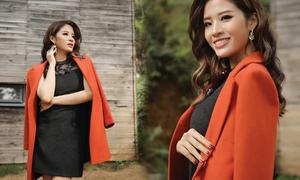 Hoa hậu Phan Hoàng Thu quyến rũ trong BST Winter in town của Demeyo