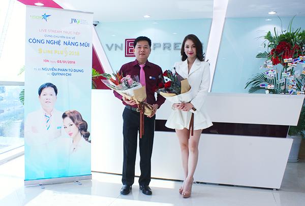 Tiến sĩ, bác sĩ Nguyễn Phan Tú Dung và MC và diễn viên Quỳnh Chi