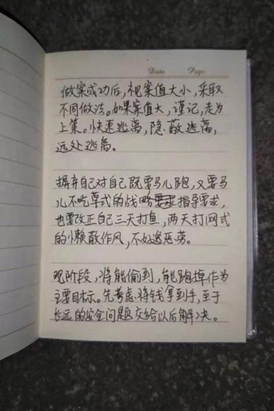 Chữ viết tay của tên này được nhiều người khen khá đẹp mắt. Ảnh: China Daily