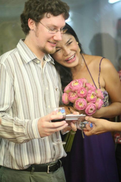 Cindy Thái Tài và ông xã người ngoại quốc khi còn bên nhau.