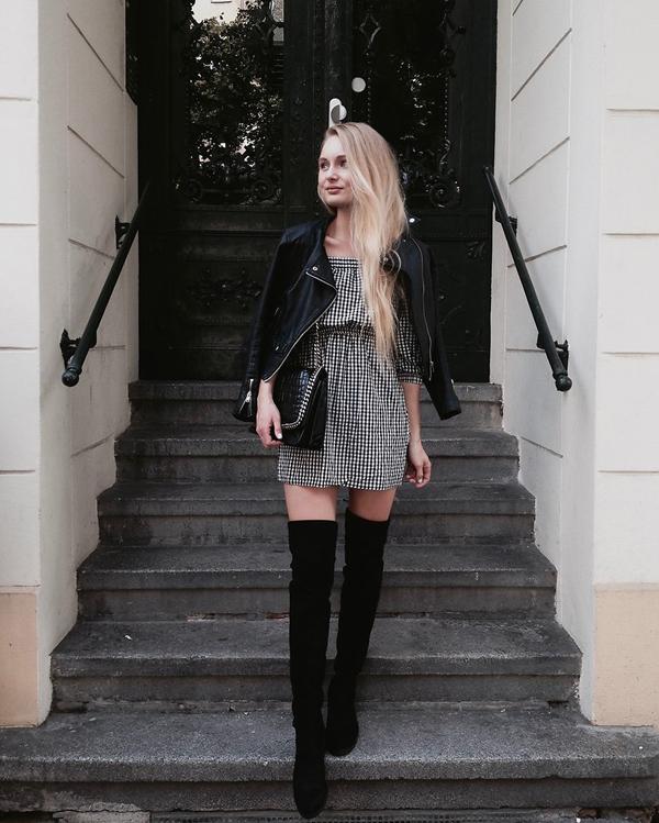 Mặc đẹp cùng cơn sốt váy ca rô - 8