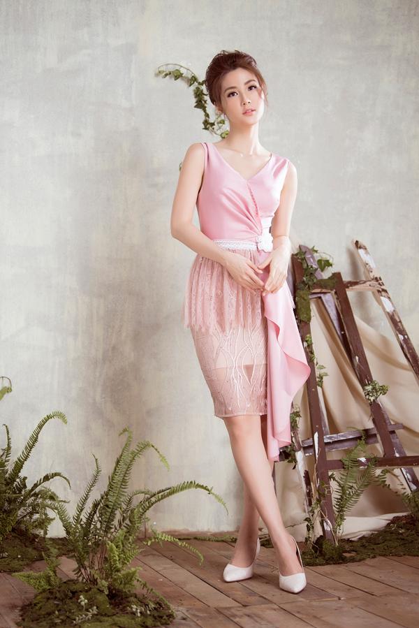 Diễm My 9x diện váy sang trọng thiết kế cùng Đỗ Long - 7