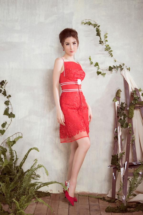 Diễm My 9x diện váy sang trọng thiết kế cùng Đỗ Long - 9