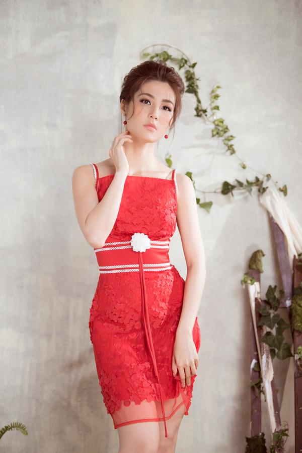 Diễm My 9x diện váy sang trọng thiết kế cùng Đỗ Long - 10